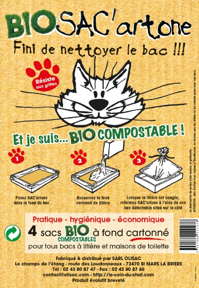 Le coin du chat, article SAC'artone bio