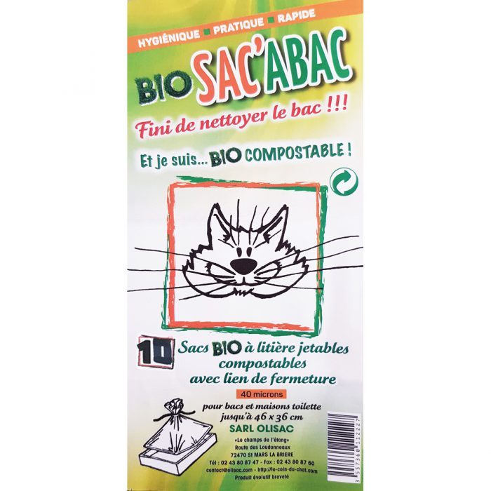 Sac de litière pour chat biodégradable et écologique