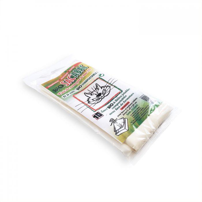 Pochettes de 10 sacs biodegradable pour la caisse de votre chat